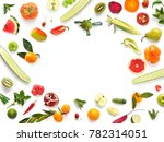 various vegetables and fruits... | Shutterstock . vector #782314051