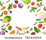 various vegetables and fruits...   Shutterstock . vector #782314054