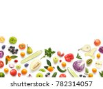 various vegetables and fruits... | Shutterstock . vector #782314057