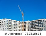 new highrise building and... | Shutterstock . vector #782315635