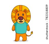 lion character. cartoon vector... | Shutterstock .eps vector #782318809