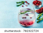 alcohol free pomegranate... | Shutterstock . vector #782322724