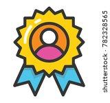 a ribbon badge for best... | Shutterstock .eps vector #782328565