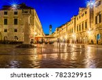 evening view at stradun famous... | Shutterstock . vector #782329915