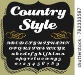 vector set of retro style hand... | Shutterstock .eps vector #782333587