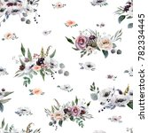 wedding seamless pattern white... | Shutterstock . vector #782334445
