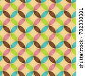 retro geometric seamless... | Shutterstock .eps vector #782338381