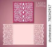 laser cut wedding invitation... | Shutterstock .eps vector #782342917