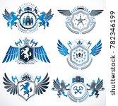 vintage decorative heraldic...   Shutterstock . vector #782346199