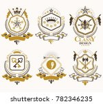 set of retro vintage insignias... | Shutterstock . vector #782346235