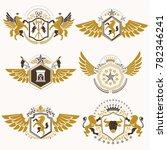 vintage decorative heraldic... | Shutterstock . vector #782346241