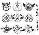 emblems  vintage heraldic... | Shutterstock . vector #782346325
