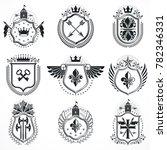 emblems  vintage heraldic...   Shutterstock . vector #782346331