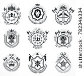 vintage emblems  heraldic... | Shutterstock . vector #782346334