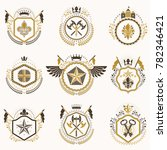 set of vintage emblems created... | Shutterstock . vector #782346421