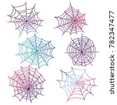 colorful spider web of set... | Shutterstock .eps vector #782347477