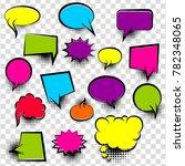 speech bubbles halftone dot... | Shutterstock .eps vector #782348065