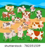 cartoon illustration of funny... | Shutterstock .eps vector #782351539