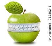 green apple with measurement... | Shutterstock . vector #78236248