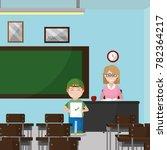 school classroom design | Shutterstock .eps vector #782364217