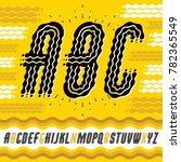upper case modern pop alphabet... | Shutterstock . vector #782365549