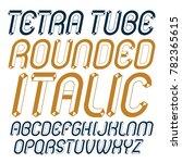 upper case modern alphabet... | Shutterstock . vector #782365615