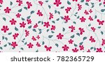 seamless floral pattern in... | Shutterstock .eps vector #782365729