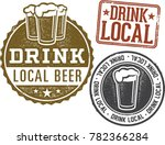 drink local brewery beer stamps | Shutterstock .eps vector #782366284