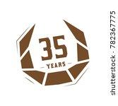 35 years design template.... | Shutterstock .eps vector #782367775