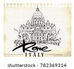 rome illustration. hand drawn... | Shutterstock .eps vector #782369314