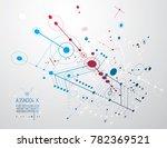 futuristic abstract technology... | Shutterstock . vector #782369521