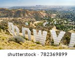 Hollywood Sign from Behind (Summer) - Los Angeles, California, USA