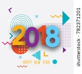 creative design of the new year'... | Shutterstock .eps vector #782371201