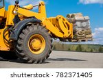 wheel loader machine... | Shutterstock . vector #782371405