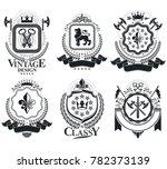 vintage award designs  vintage...   Shutterstock . vector #782373139