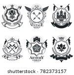classy emblems  heraldic coat... | Shutterstock . vector #782373157