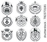 old style heraldry  heraldic... | Shutterstock . vector #782373181