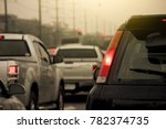 cars jammed with traffic jams... | Shutterstock . vector #782374735