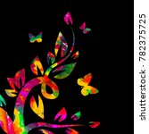 abstraction with flowers and... | Shutterstock .eps vector #782375725