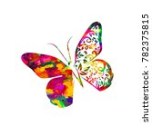 bright rainbow butterfly... | Shutterstock .eps vector #782375815