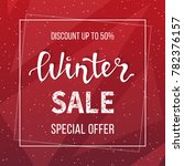 winter sale banner  poster ...   Shutterstock .eps vector #782376157