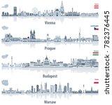 vector abstract city skylines... | Shutterstock .eps vector #782376445