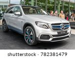Small photo of Frankfurt, Germany, September 13, 2017: Pre-production car Mercedes-Benz GLC F-Cell EQ Power electric model at 67th International Motor Show IAA innovative fuel-cell, battery technology, plug-in hybri
