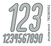 set of stylish disco digits ... | Shutterstock . vector #782383501