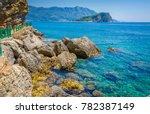 view on beautiful wild beach | Shutterstock . vector #782387149