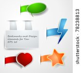 different vector paper tags | Shutterstock .eps vector #78238813