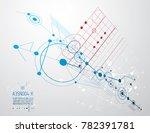 mechanical scheme  engineering... | Shutterstock . vector #782391781