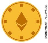 ethereum crystal golden casino... | Shutterstock .eps vector #782396851