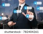 blockchain technology concept | Shutterstock . vector #782404261