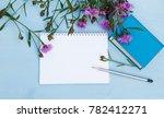 sketchbook mock up. summer...   Shutterstock . vector #782412271